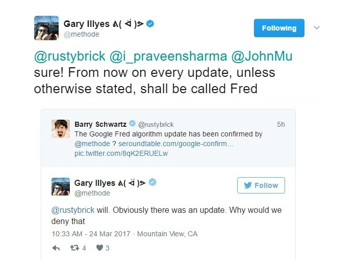 Fred Update Confirmation